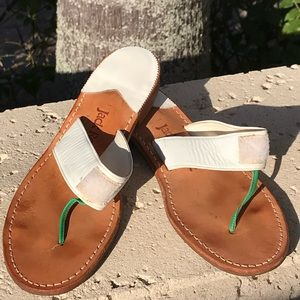 Jack Rogers SWITCH DAISY Thong Sandals - Sz 9